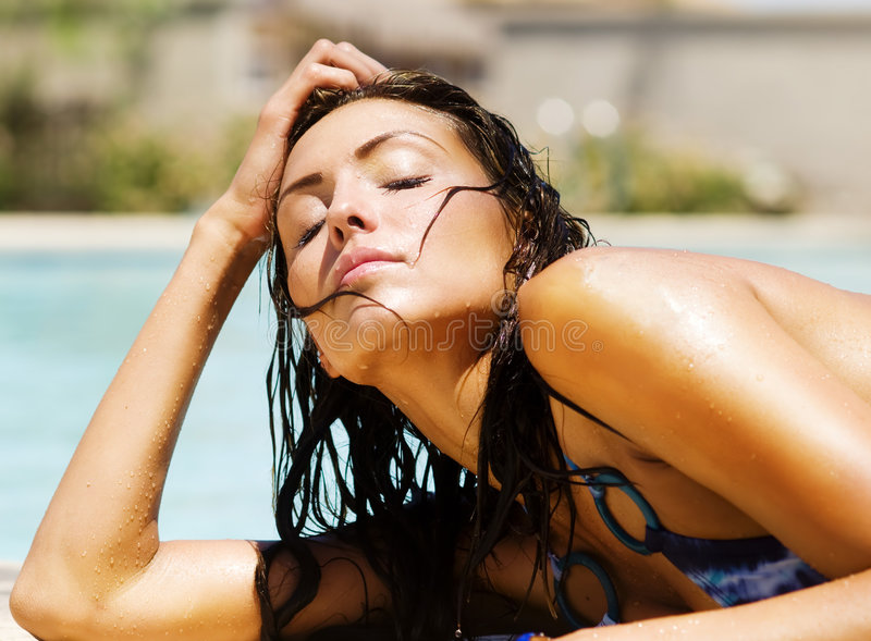 Young Woman Basking In Sunshine Stock Images