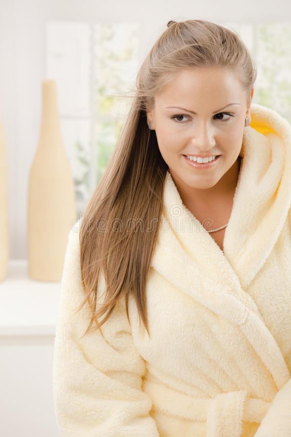 Download Young Woman In Bathrobe Stock Photos - Image: 11677303