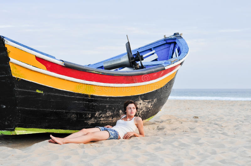 Download Young woman on the beach stock image. Image of fresh - 20472363