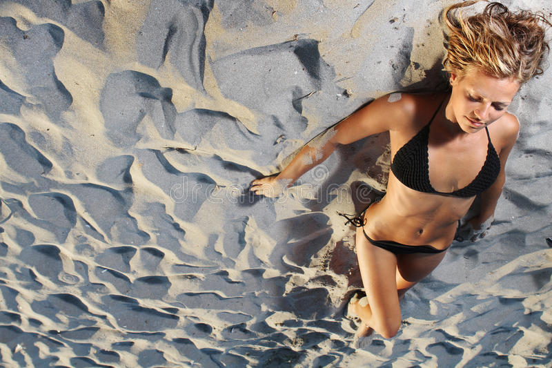 Download Young woman on beach stock image. Image of cheerful, model - 23149283