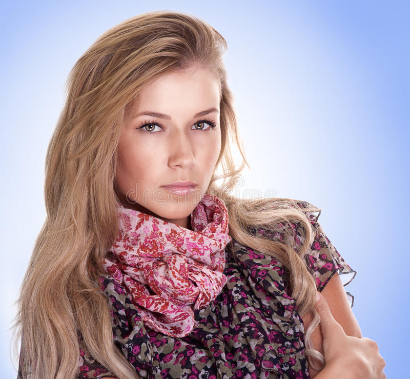 Young woman with beautiful blond hairs royalty free stock photos