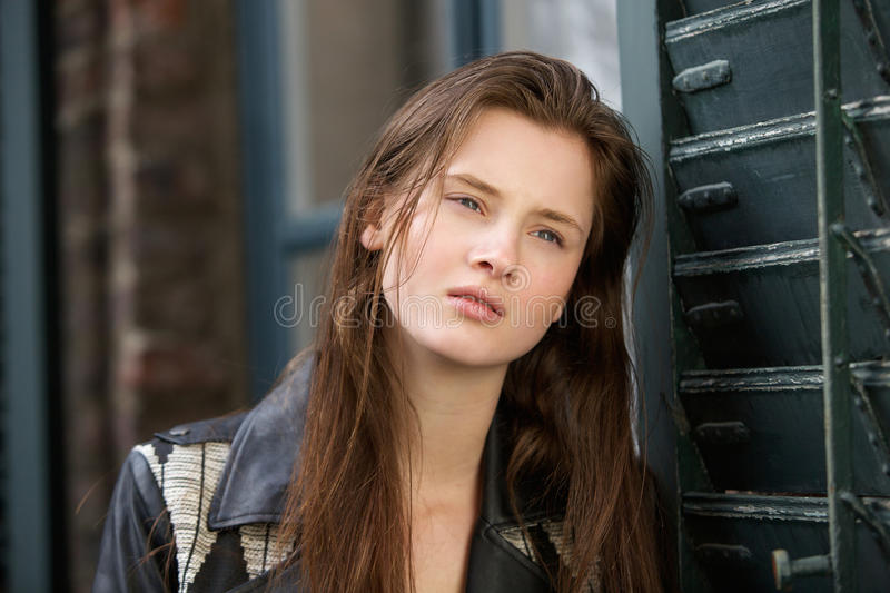 Young woman with beautiful face royalty free stock images