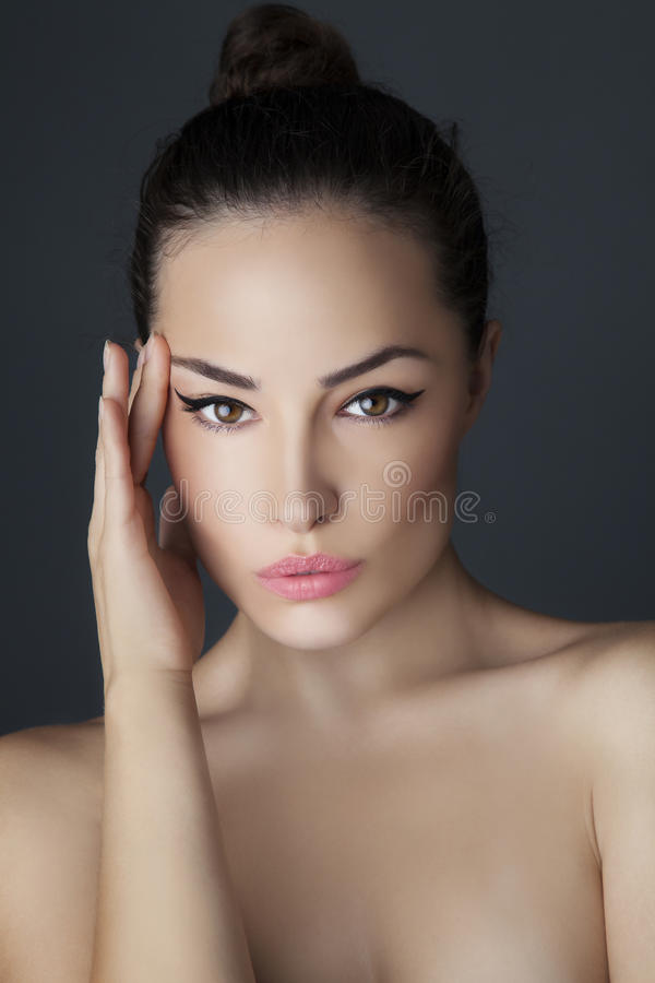 Young woman beauty portrait royalty free stock images