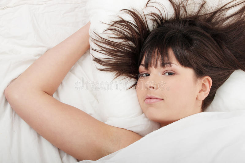 Young Woman On Bed Royalty Free Stock Photography