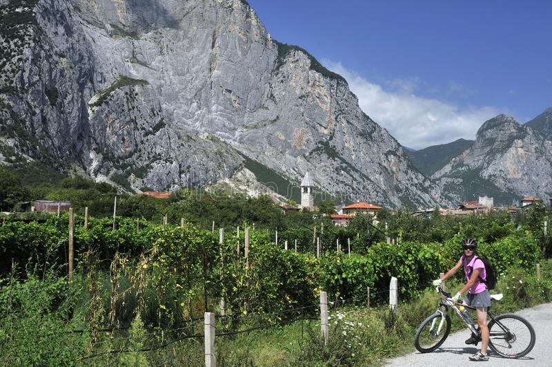 Pietramurata Biking, Trentino-Alto Adige, Italy stock image