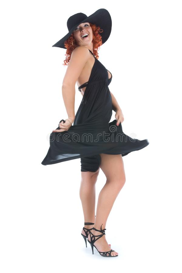 Download Young woman in black dress stock photo. Image of sensuality - 5633198