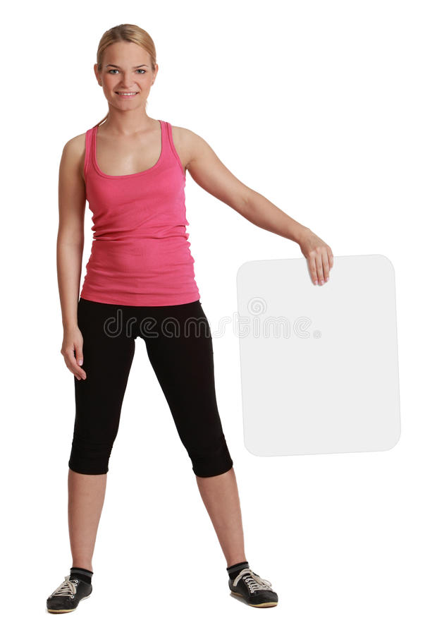 Download Young Woman With A Blank Board Stock Photo - Image: 28564038