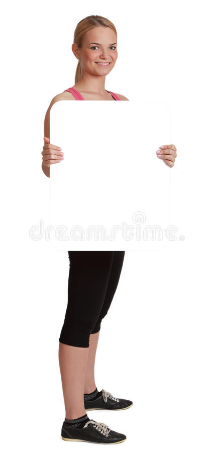 Download Young Woman With A Blank Board Stock Image - Image: 28577531