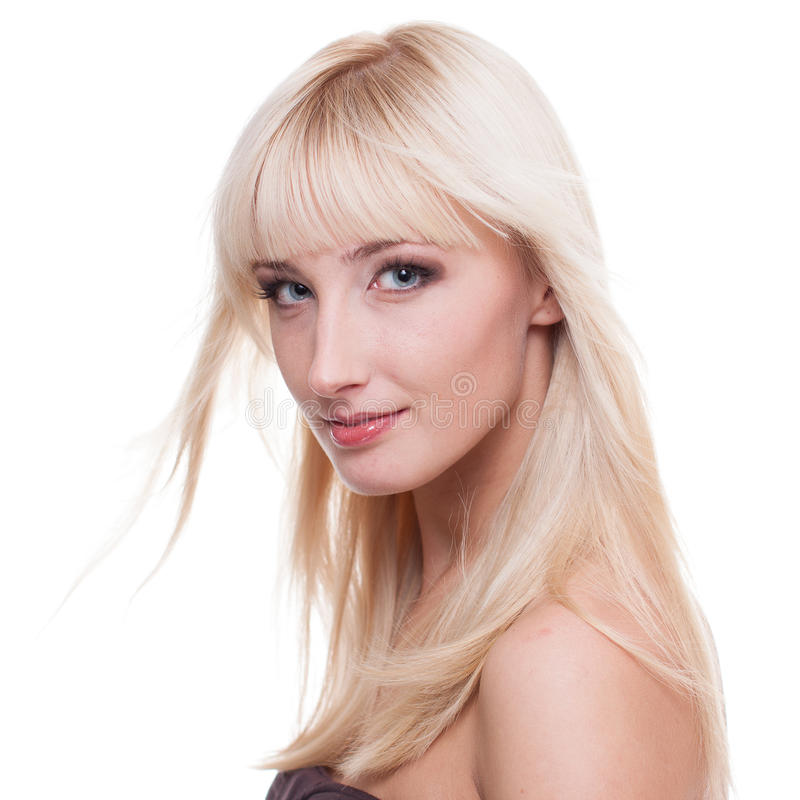 Young woman with blond hair stock images