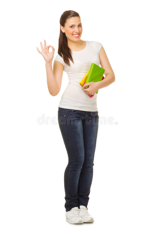 Download Young Woman With Books Stock Images - Image: 24642754