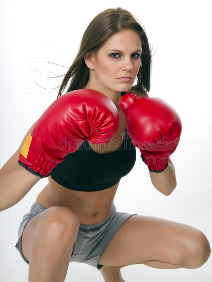 Download Young Woman Boxer stock photo. Image of complexion, female - 17224450