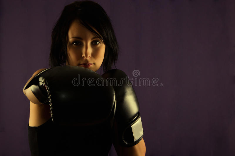 Download Young Woman boxer stock photo. Image of gloves, hold - 21628338