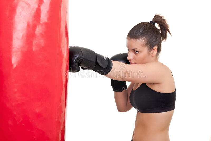 Download Young woman boxing stock photo. Image of boxer, closeup - 18829150