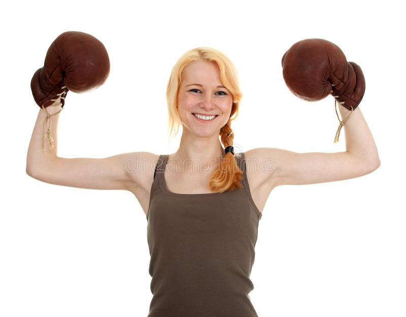 Download Young Woman In Boxing Gloves Stock Image - Image: 16506595