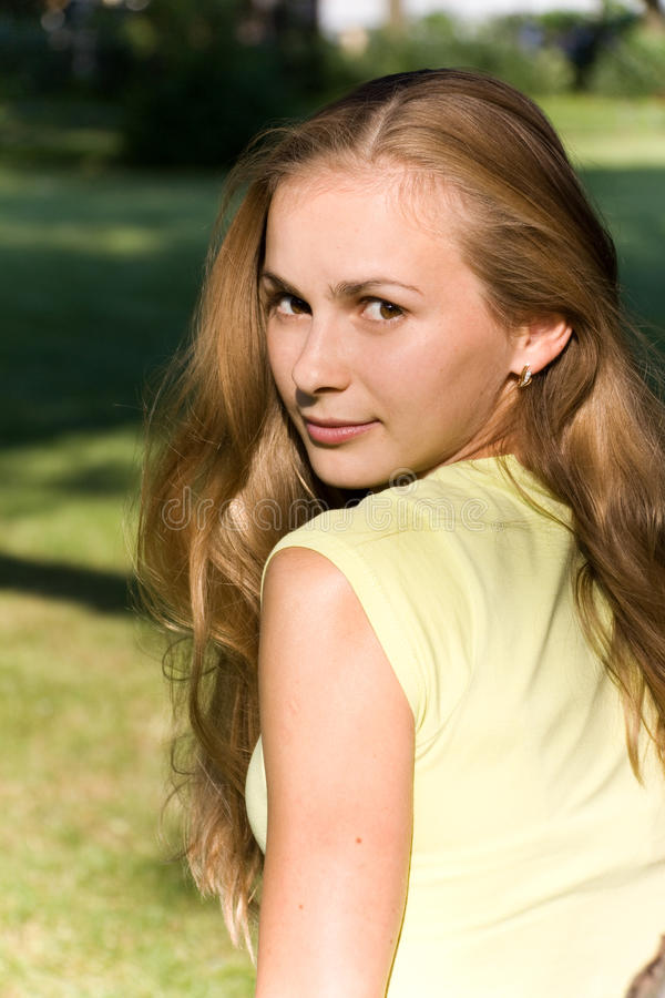 Download Young Woman With Calm Smile Stock Image - Image: 10895699