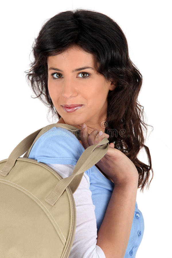 Download Young Woman Carrying A Handbag Stock Photo - Image: 22484896