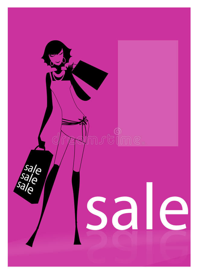 Download A Young Woman Carrying Shopping Bags Stock Vector - Illustration of lifestyles, gift: 16647655