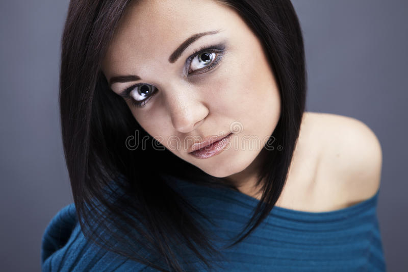 Young Woman casual portrait. Close-up face. Photo stock images