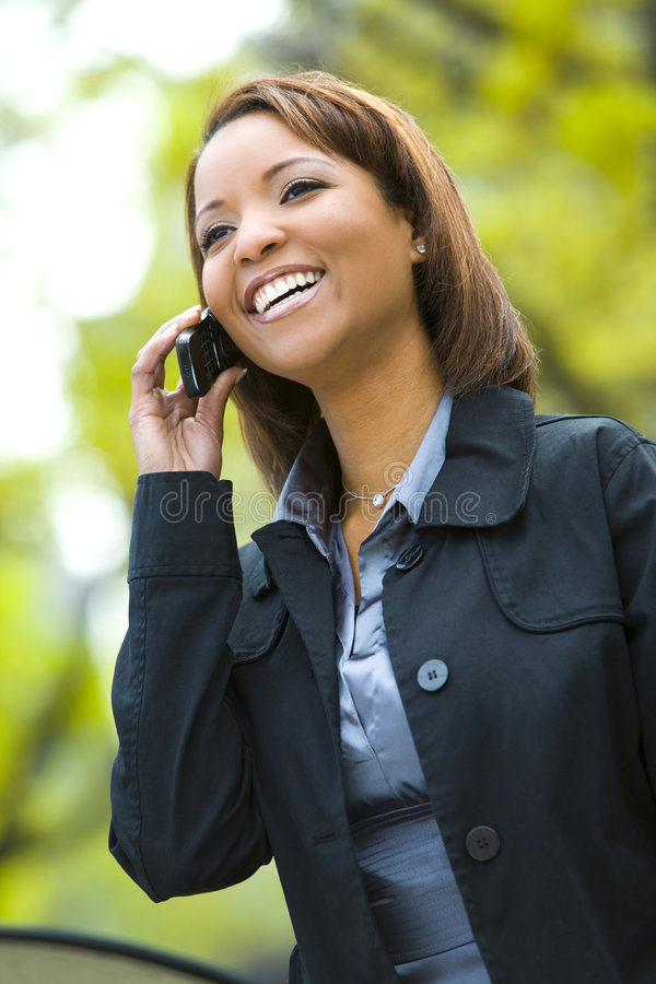 Young woman on cellphone royalty free stock photo