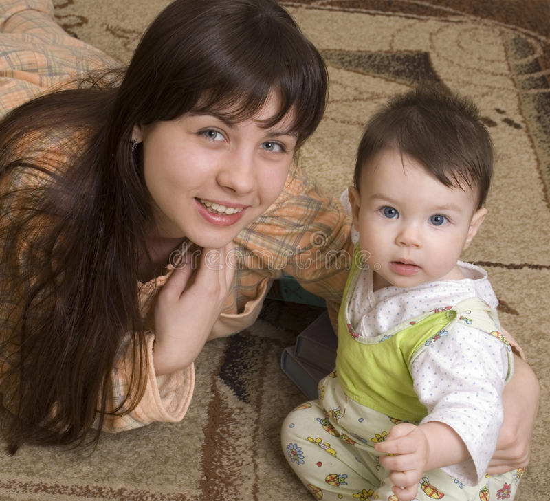 Download The Young Woman With The Child Stock Images - Image: 18173504