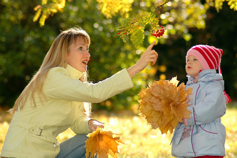Download Young Woman And Child In Park Stock Photo - Image: 20785416