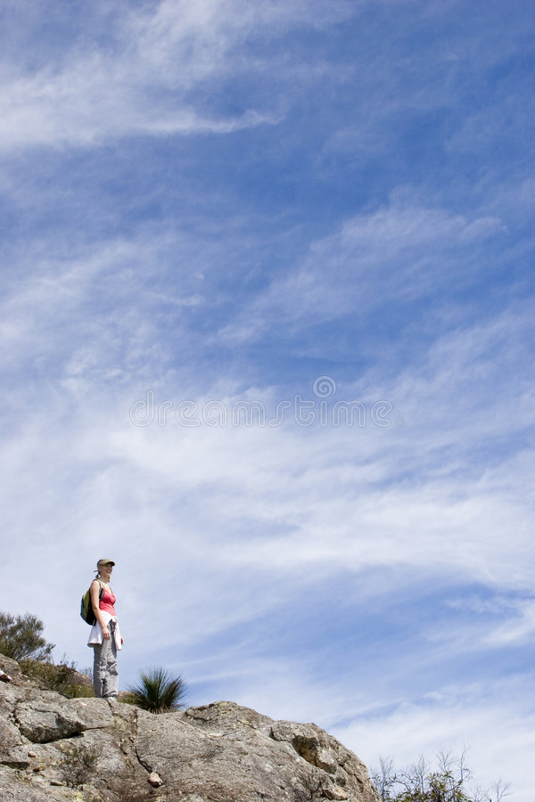 Download Young Woman Climbing Mt Maroon 2 Stock Image - Image: 656511