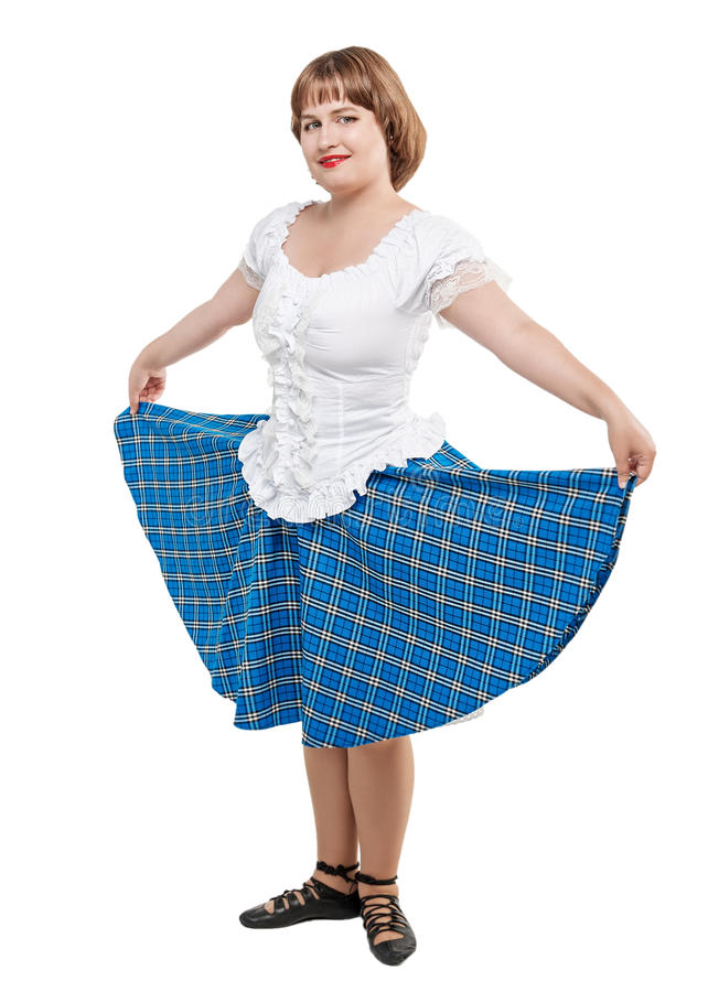 e3f7e87c5 Download Young Woman In Clothing For Scottish Dance Stock Photo - Image Of  Highlander Cloth Sc 1 St Dreamstime.com