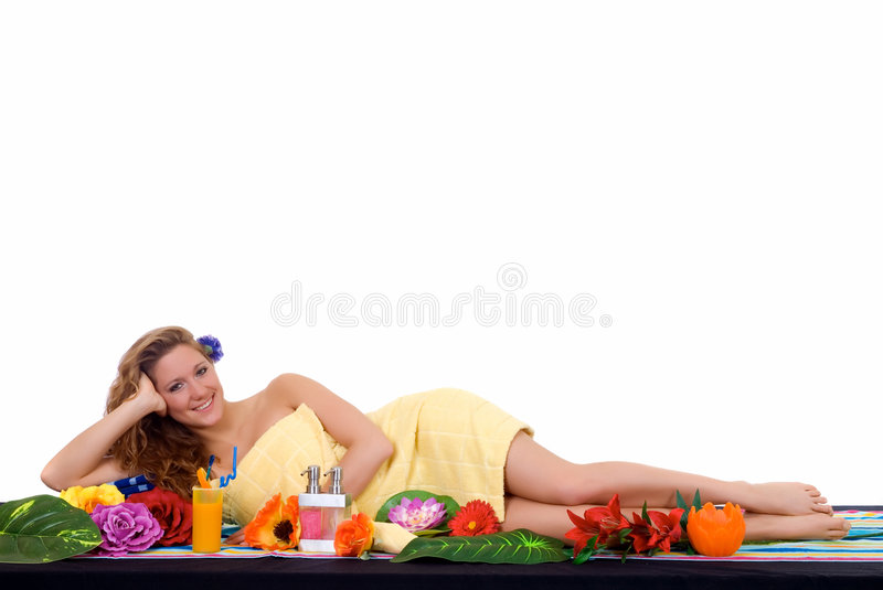 Young woman with cocktail royalty free stock images