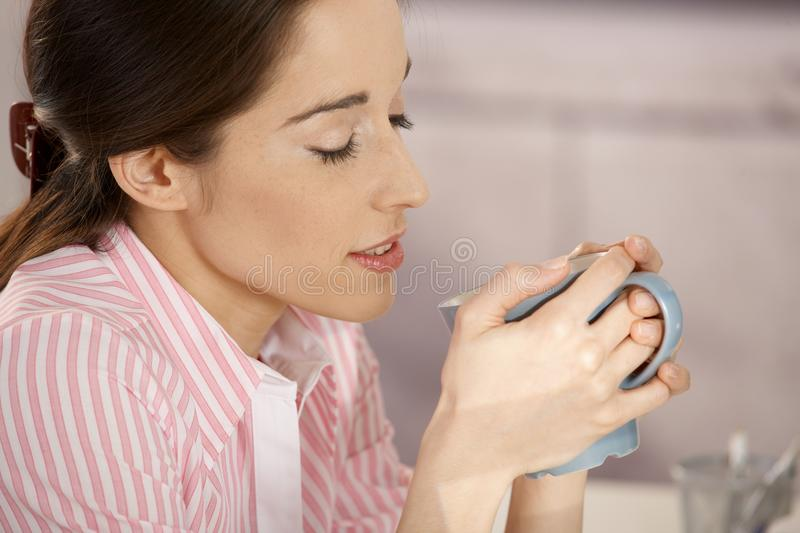 Young Woman With Coffee Royalty Free Stock Photography