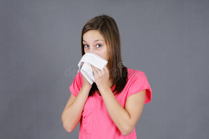 Download Young Woman With Colf Or Flu Stock Photo - Image: 27462400