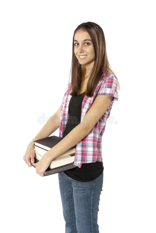 Download Young Woman College Student With Books. Stock Photo - Image: 23657348