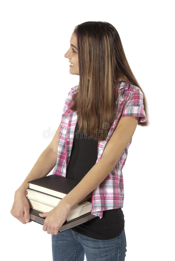 Young Woman College Student With Books. Royalty Free Stock Photo