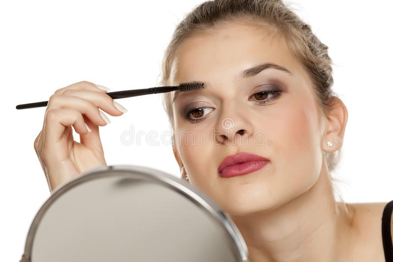 Eyebrows shaping royalty free stock image