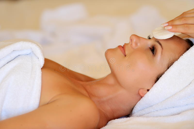 Download Young Woman During Cosmetic Treatment Stock Image - Image: 19636477
