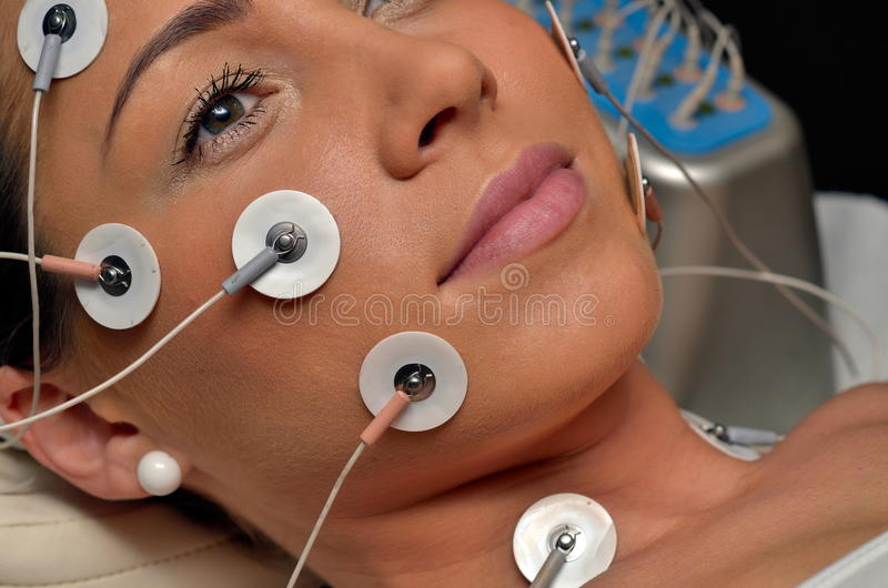 Download Young Woman During Cosmetic Treatment Stock Image - Image: 21473943