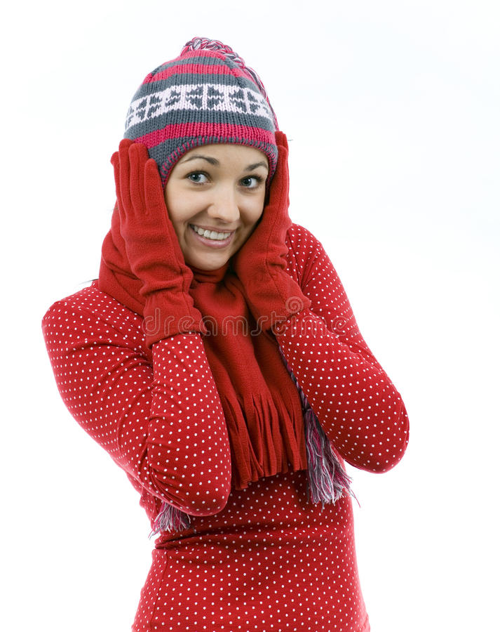 Download Young woman covering ears stock photo. Image of shivering - 12928372