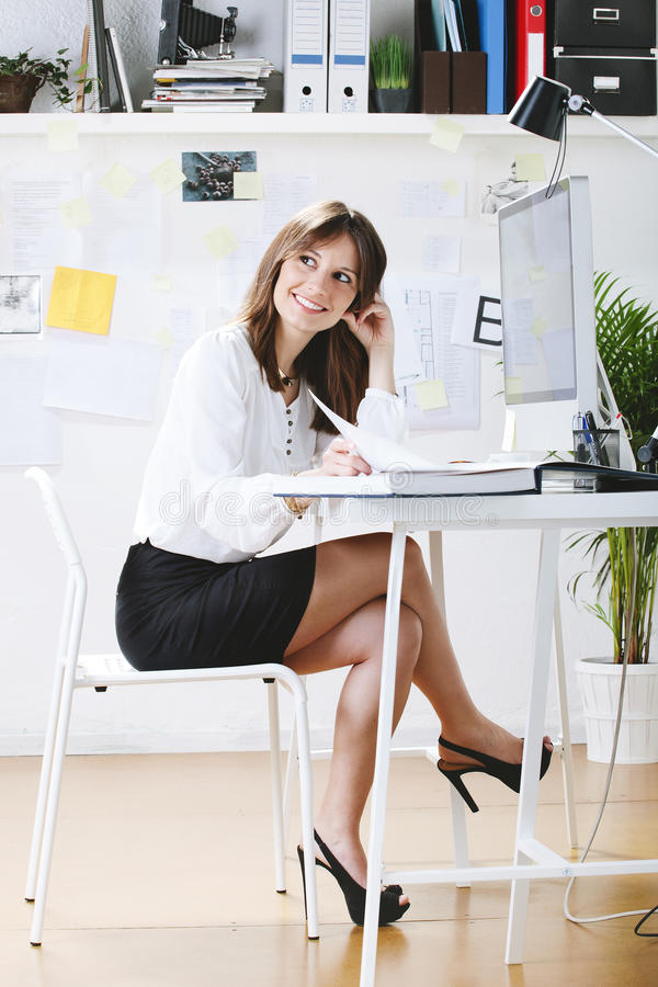 Download Young Woman Creative Designer Working In Office. Stock Image - Image: 31826117