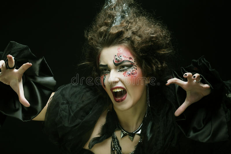 Young woman with creative make up. stock image