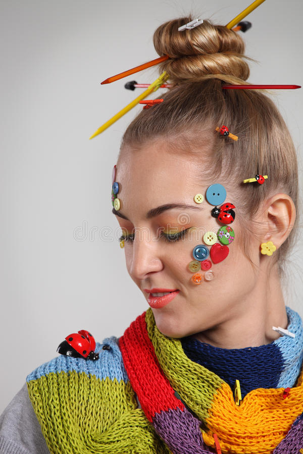 Young woman with creativity make up