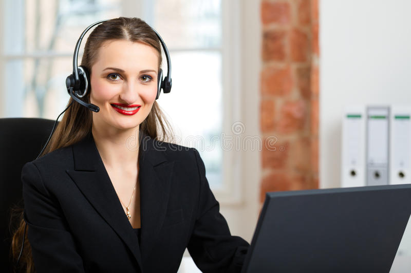 Download Young Woman From The Customer Service Stock Photo - Image: 30996520