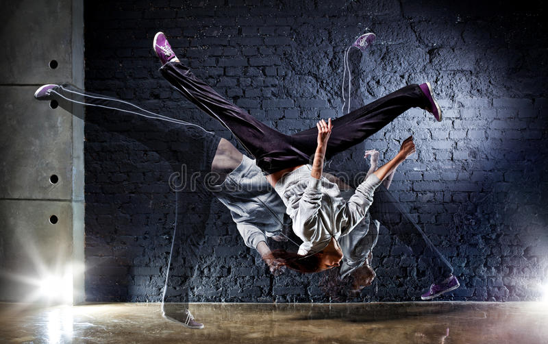 Young woman dancer stock photography