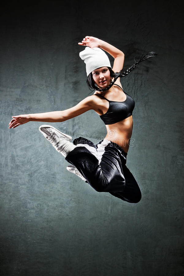 Download Young woman dancer jumping stock photo. Image of sport - 19122004