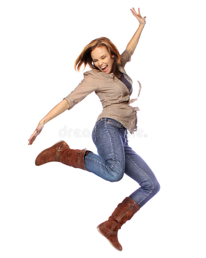 Free Young Woman Dancing Royalty Free Stock Images - 17893449