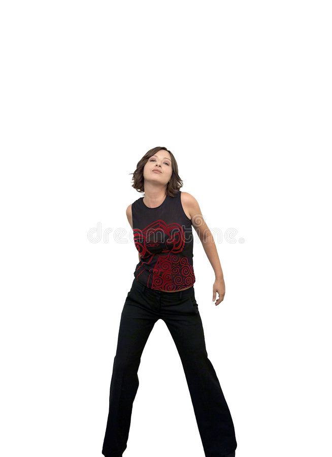 Download Young woman dancing stock photo. Image of female, dances - 6706918