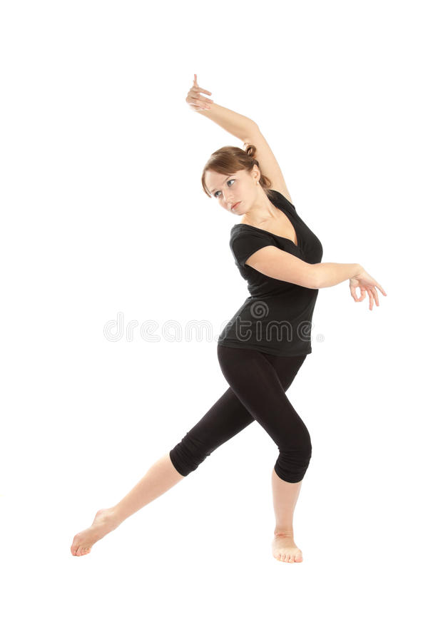 Young woman deals with fitness. royalty free stock image