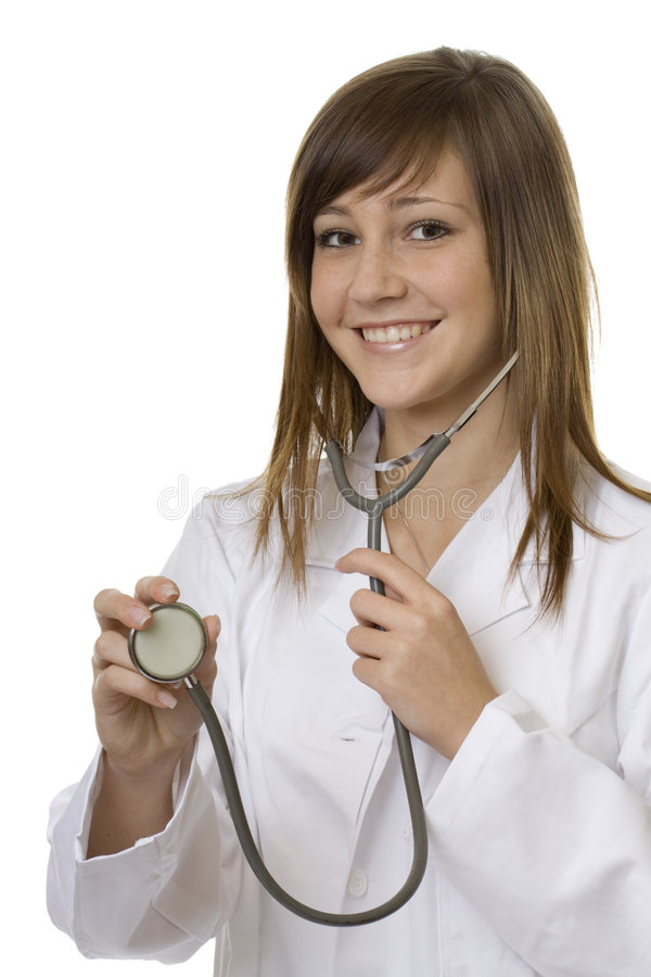 Young Woman Doctor With Stethoscope Royalty Free Stock Image