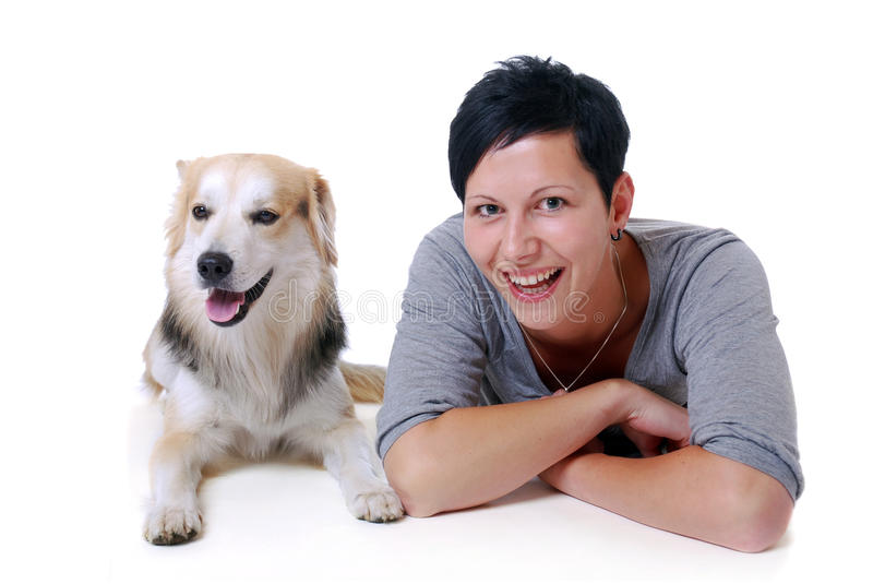 Download Young woman with dog stock image. Image of proud, hold - 20310959