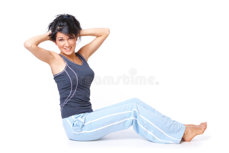 Download Young woman doing exercise stock photo. Image of body - 22187972