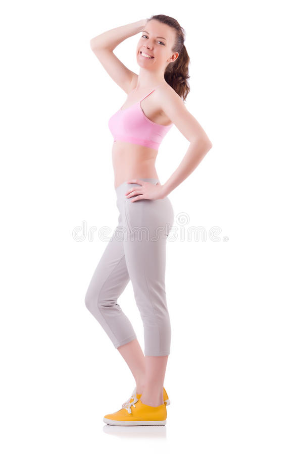 Download Young Woman Doing Exercises Stock Photo - Image: 32586940