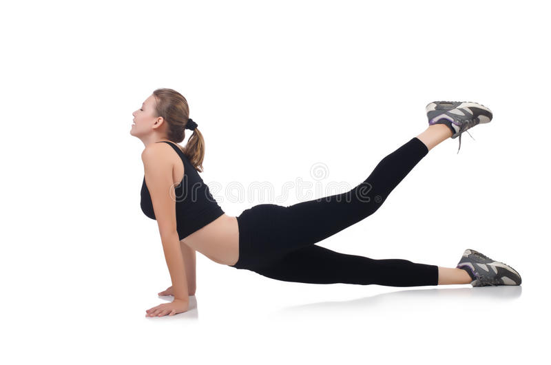 Download Young Woman Doing Exercises Stock Photo - Image: 33964922